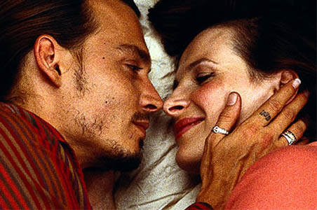 Juliette Binoche and johnny depp